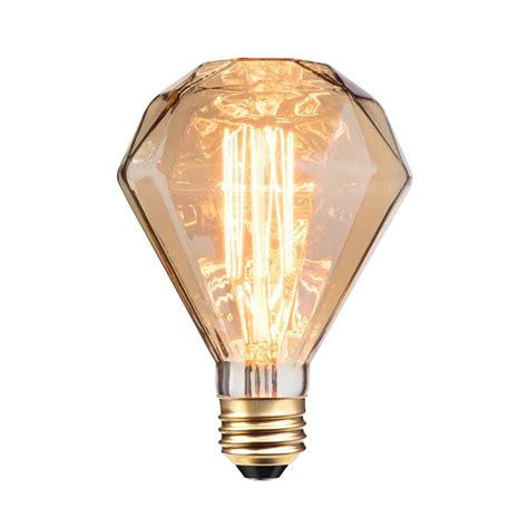 what is an incandescent light bulb globe electric 40w designer vintage edison diamante