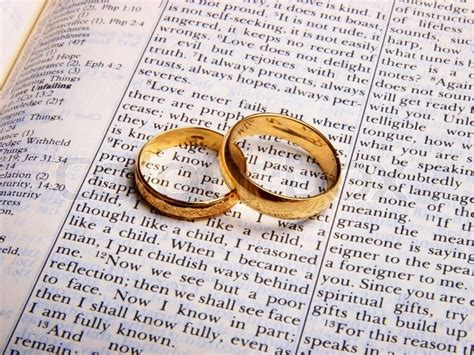 Wedding Rings Bible by Wedding Rings On A Bible Stock Photo Colourbox