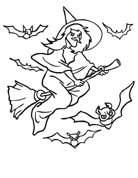 flying witch coloring page bats flying witch coloring pages best place to color