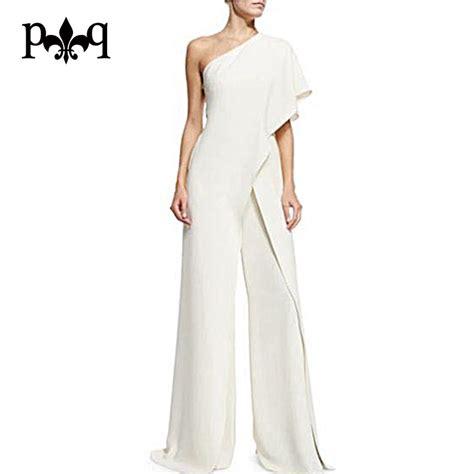 White Elegan white jumpsuit clothing