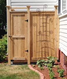 outdoor shower kit cedar shower enclosure designs ideas