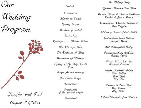 tri fold wedding program template publisher tags trifold wedding