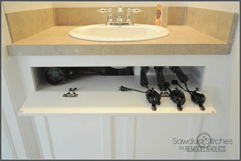 Kitchen Cabinet Organizer Pull Out Drawers remodelaholic diy under the sink hair tool storage