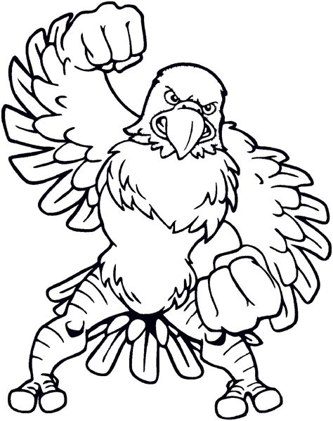 nfl eagles coloring pages free coloring pages of eagle football