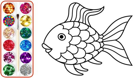 rainbow fish coloring page beautifull rainbow fish coloring page at coloring page
