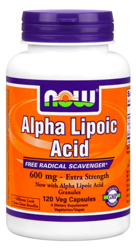Alpha Lipoic Acid Liver Detox by Now Foods Alpha Lipoic Acid 600 Mg 120 Vcaps Ebay