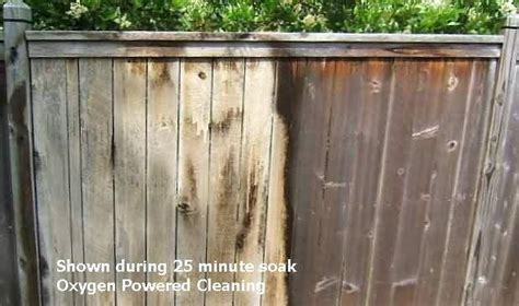 wood fence cleaner safe oxygen bleach cleans wood  decking