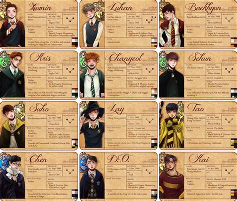 Exo Chibi Sticker By 5g 5g exo hogwarts profile cards by verilyi on deviantart