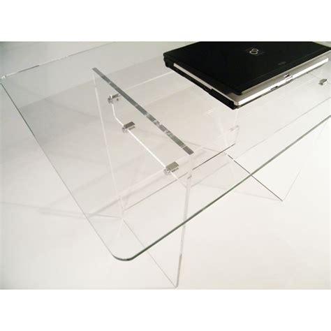 bureau plexi bureau en plexiglas et verre piccolo