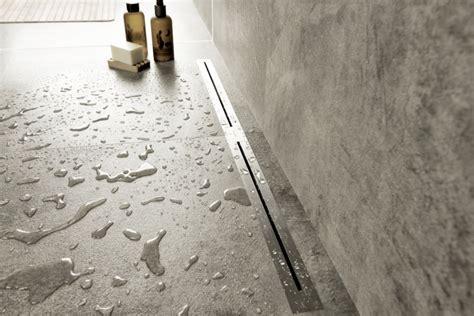 Draining Shower by Easy Drain Nano Linear Shower Drain