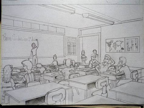 Sketches School by Classroom Sketch By Ronydraw On Deviantart