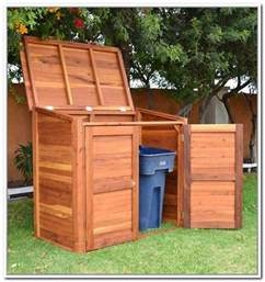 25 best ideas about garbage can shed on