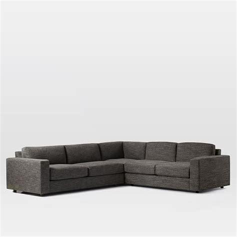west elm urban sofa review urban 3 piece l shaped sectional west elm