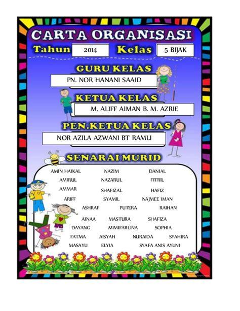 download desain struktur organisasi kelas carta organisasi kelas