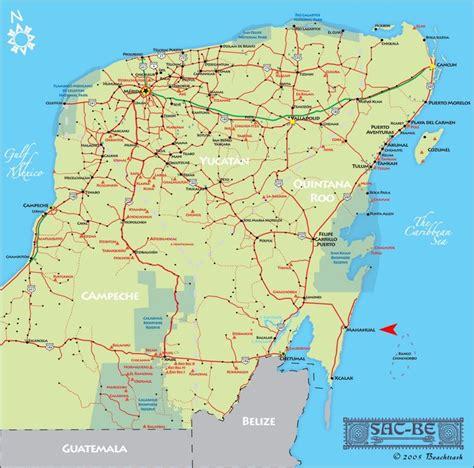 map of mexico yucatan peninsula yucatan peninsula map images