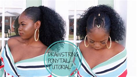 hump and drawstring ponytail tutorial youtube 10 drawstring ponytail slay youtube