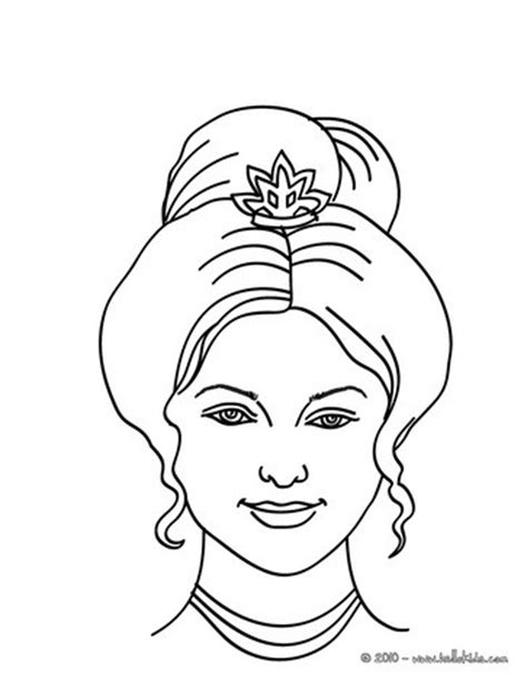princess head coloring page princess head with curly bun coloring pages hellokids com