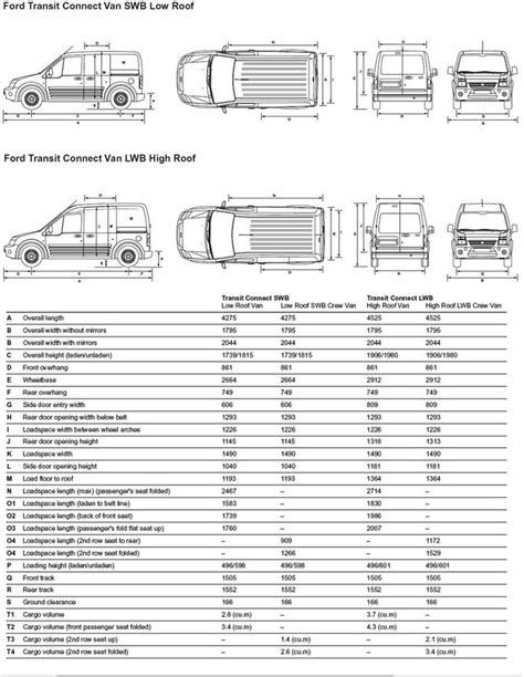 layout xl connectivity ford transit connect dimensions van stuff pinterest