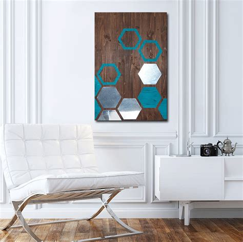 Contemporary Wall Decor by Modern Painting Wood Wall Metal Wall Modern Wall