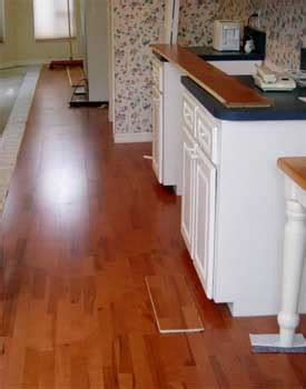 Replace Tile With Hardwood In Kitchen by How To Install Wood Flooring Tile Tile Design Ideas