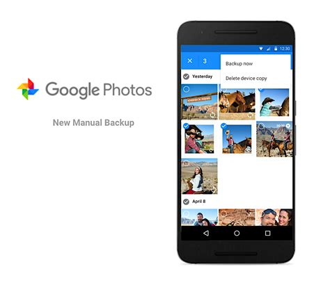 android photo backup photos update lets you manually choose photos to backup