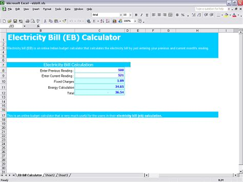 calculate electricity bill excel calculator vertola