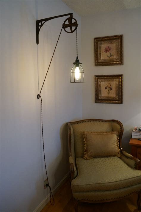 vintage wall mount industrial light 125 00 via etsy