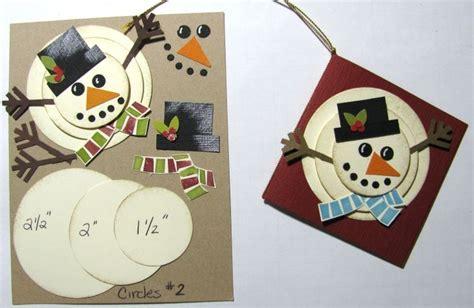 Make A Paper Snowman - how to make a paper snowman scrapbooking card