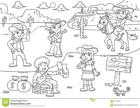 preguntas para una entrevista en un zoologico illustration of cowboy wild west child cartoon for