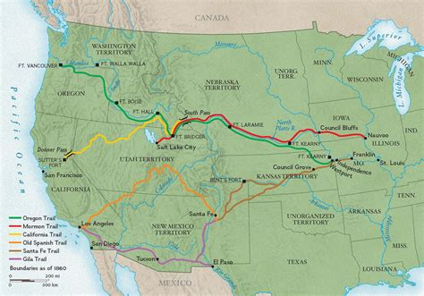 map of oregon trail 1850 trails west national geographic society