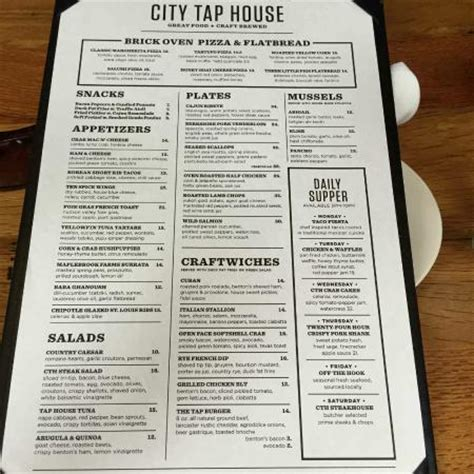 city tap house menu main dining picture of city tap house penn quarter washington dc tripadvisor