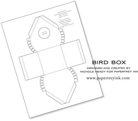 birdhouse templates bird house template crafts
