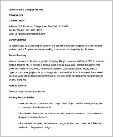 web designer resume template word resume format in word for graphic designer resume