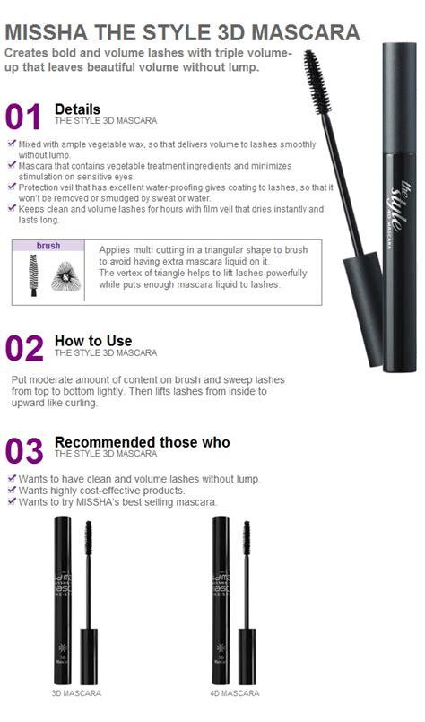 Missha 4d Style Mascara missha the style 3d mascara black best selling item ebay