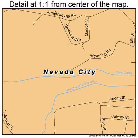 california map nevada city nevada city california map 0650874