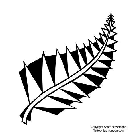 nz silver fern tattoo designs nz silver fern design with sharp leaves