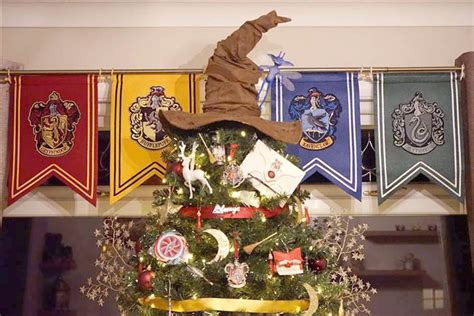 harry potter christmas decorating ideas harry potter themed tree decorations today