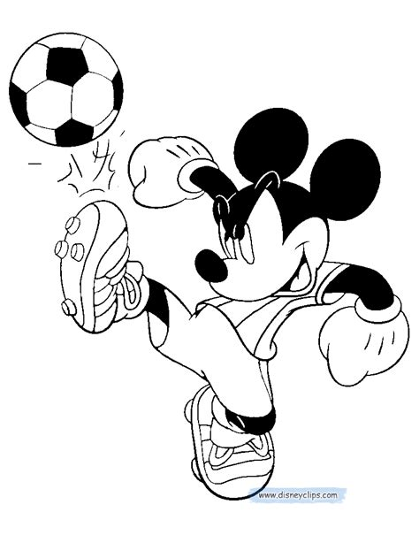 mickey mouse soccer coloring page mickey mouse printable coloring pages 3 disney coloring book