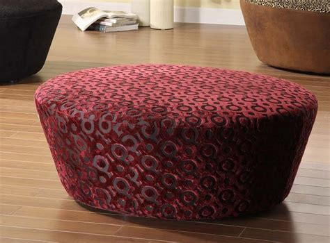 40 inch round ottoman armen living hostess 40in round ottoman in eggplant