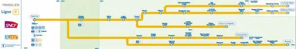 plan ligne p transilien en commun