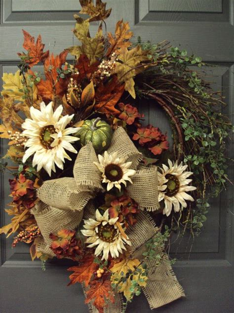 autumn wreath fall wreath autumn wreath harvest wreath door wreath