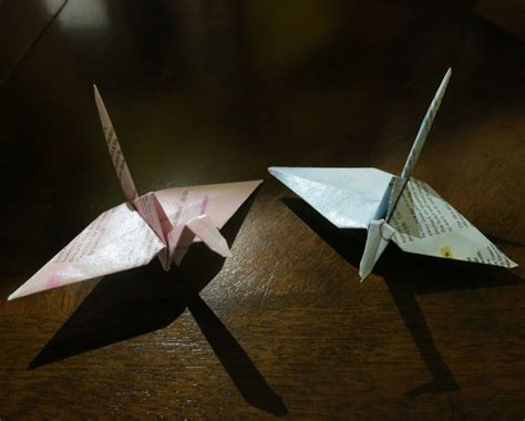 Origami Forums - literature based origami cranes bellaonline forums