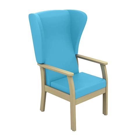 medical armchair sunflower medical atlas sky blue high back intervene