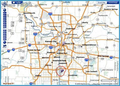 kansas city map usa map of kansas city missouri travelsfinders