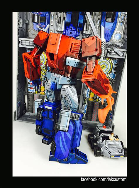 Everblock transformers masterpiece custom cartoon paint job figures