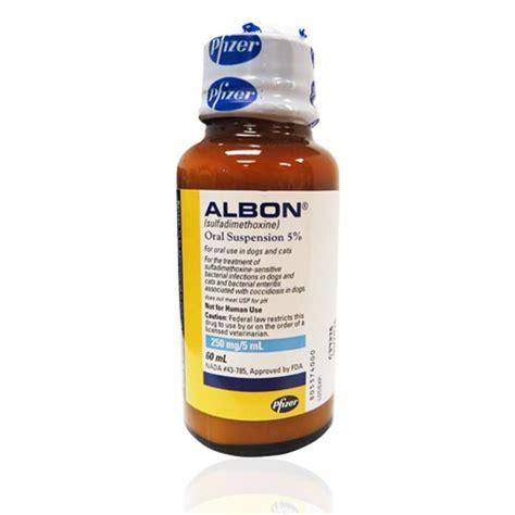 albon for dogs albon liquid for dogs and cats albon 5 suspension 2 oz