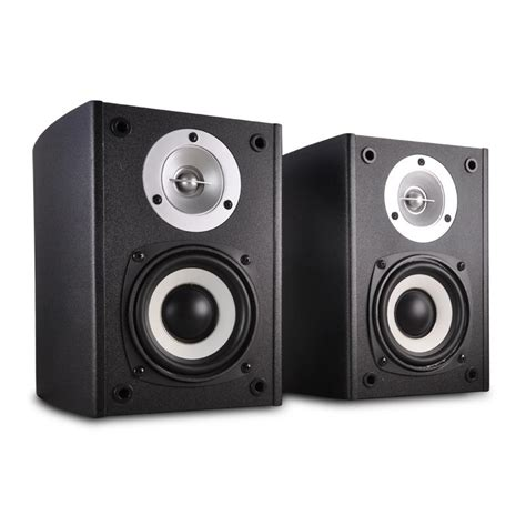 trevi av540bk powered 2 way stereo speakers 80w hifi
