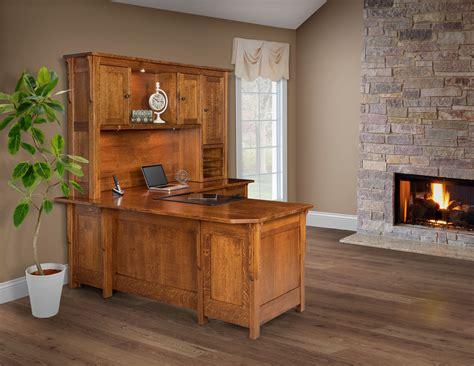 boston larger corner desk  hutch custom amish furniture