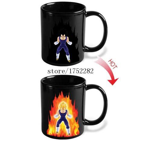 1 Piece Genuine Dragon Ball Z Vegeta Changing Coffee Mug Heat sensitive Reactive Ceramic Cup Mug
