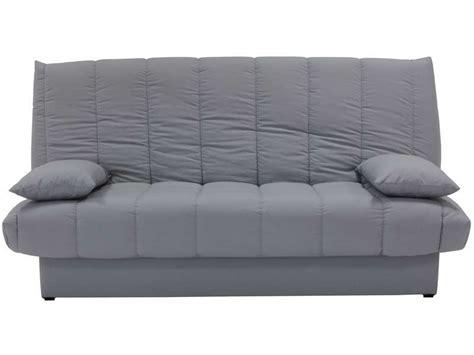 conforama canapé lit clic clac banquette clic clac en tissu coloris gris vente de